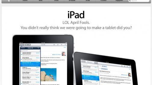 De iPad blijkt een 1 april grap te zijn