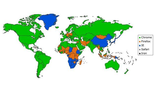 De populairste browsers per land [graphic]