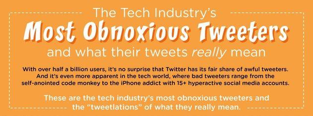 De slechtste tweeters uit de technologische industrie [Infographic]