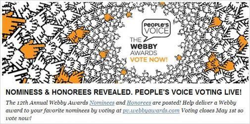 De Webby Awards komen er weer aan