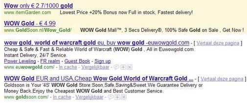 """De wereld van in-game gold en """"gold-farmen"""""""