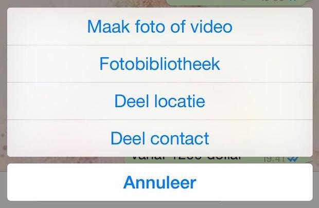 Deel Locatie in Chat