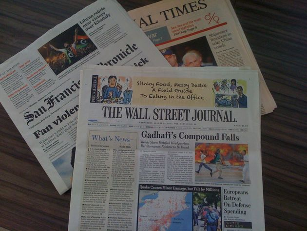 """Deel oplage Wall Street Journal Europa verkocht voor 1-5 eurocent"""