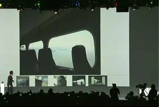 Demonstratie van Google's Project Glass tijdens een Skydive