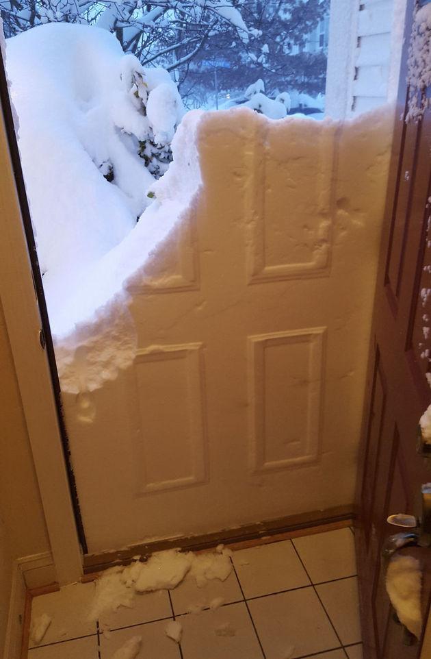 deur-sneeuw