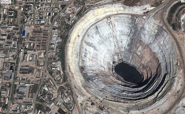 diamantmijn in rusland