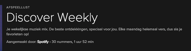 Discover Weekely