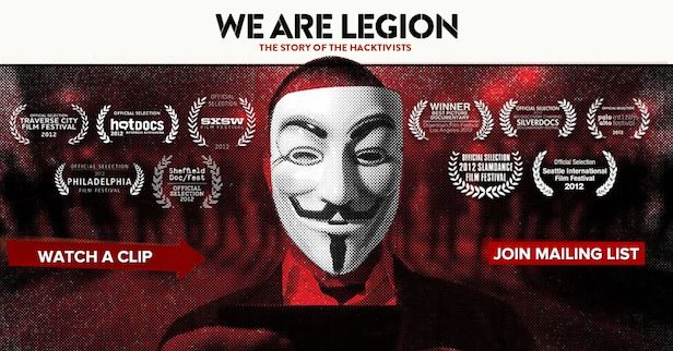 Documentaire Anonymous 'We Are Legion' nu verkrijgbaar