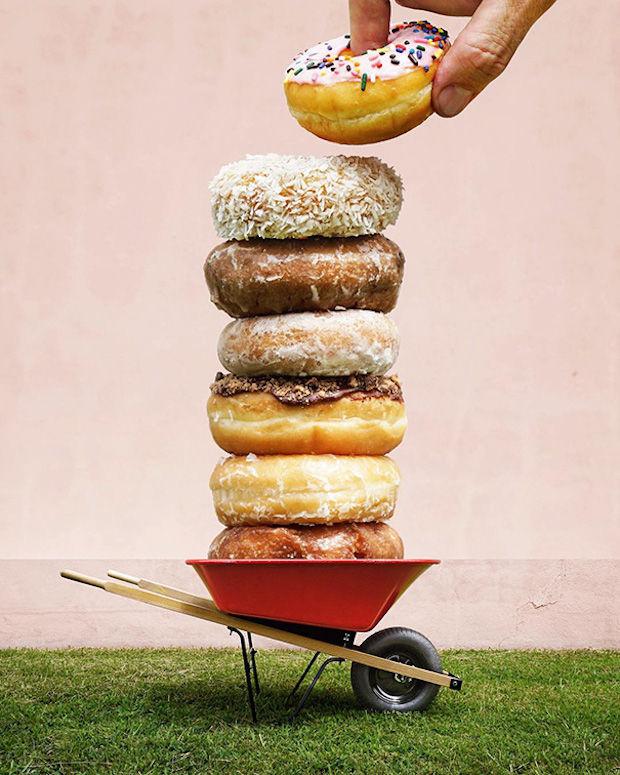 donuts+kruiwagen