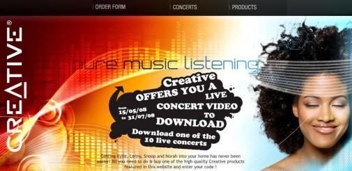 Download een gratis live-concert bij Creative