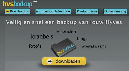 Download je eigen spullen in één click vanaf Hyves