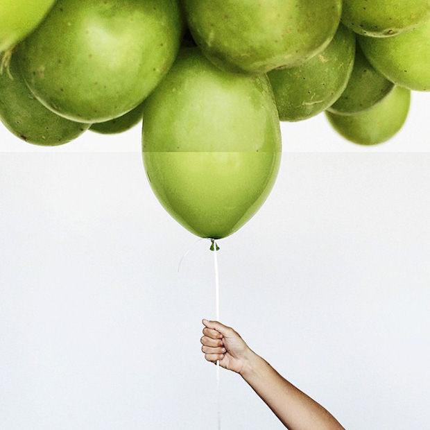 druiven en ballonnen