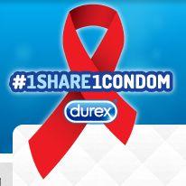 Durex doneert condooms voor elke #1Share1Condom tweet