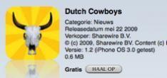 Dutchcowboys iPhone app populair