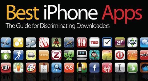 Een boek met de 200 beste iPhone Apps