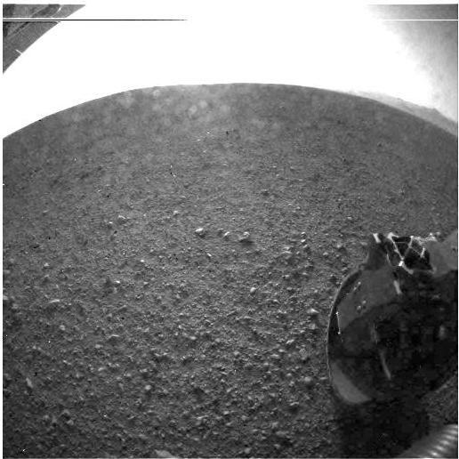 Eerste HD beelden van Curiosity op Mars