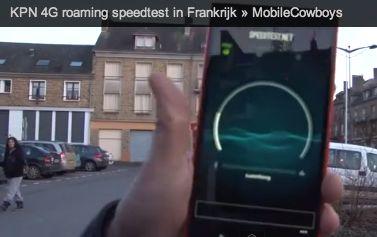 Eerste KPN 4G roaming test in Frankrjk