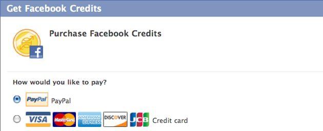 En je Facebook credits gaan naar...
