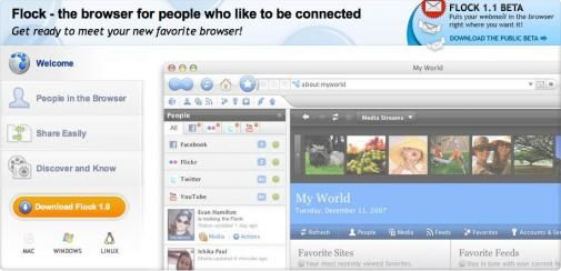 En we noemen haar Flock, the Social Media browser