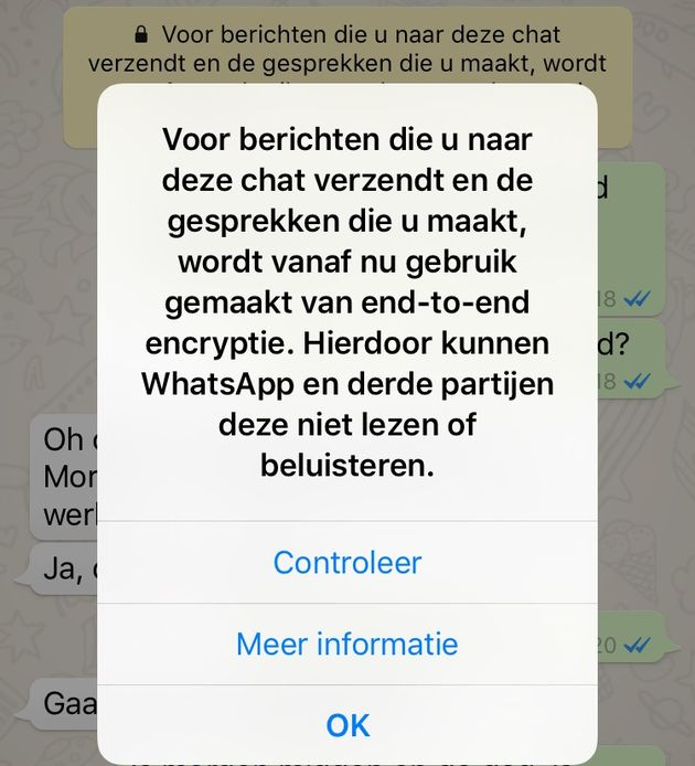 Whatsapp Heeft Nu End To End Encryptie