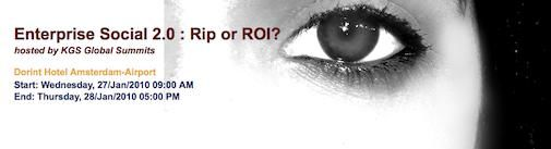 Enterprise Social 2.0 Rip of ROI met 1000 euro korting