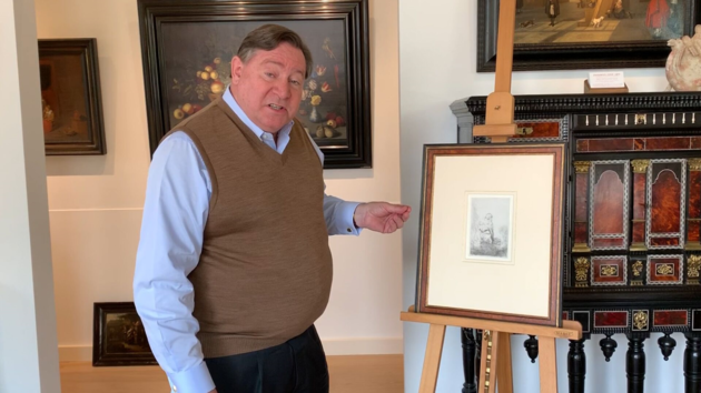 Ernst Douwes en ets Rembrandt