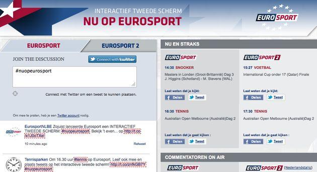 Eurosport lanceert interactief tweede scherm