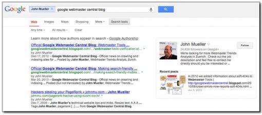 exampel google authorship