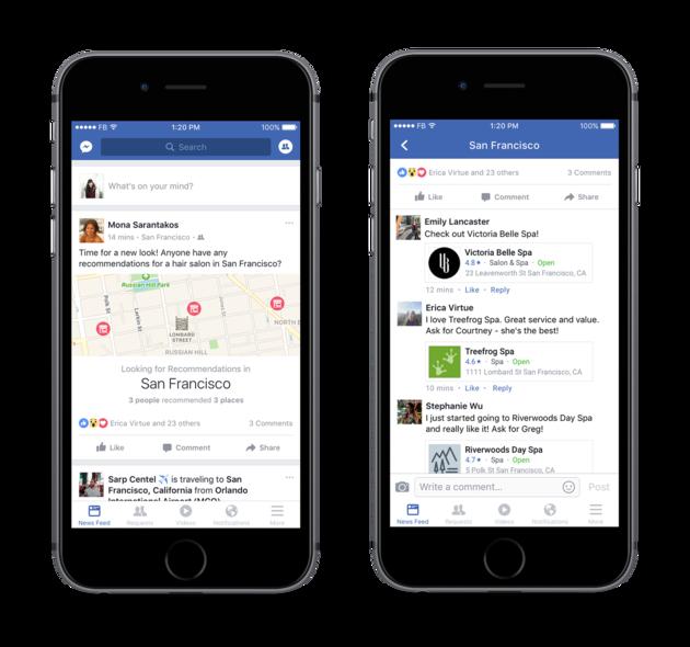 facebook-aanbevelingen