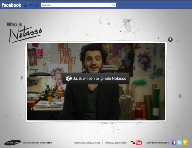 Facebook app : Who is Notasso?