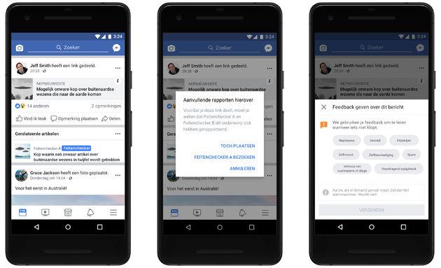 Facebook kondigt de factchecking-partners van Nederland aan