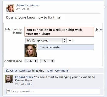 Facebook + Game of Thrones = LOL