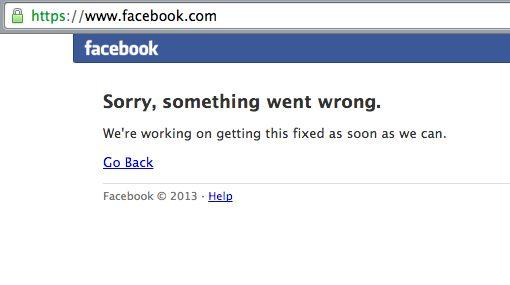 Facebook heeft een flinke storing