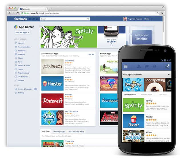 Facebook introduceert het App Center