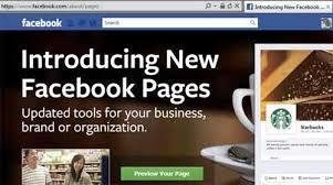 Facebook introduceert nieuw pagina design