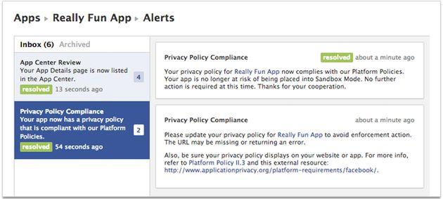 Facebook komt met Developer Alerts