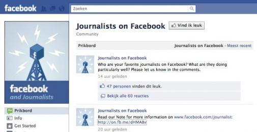 Facebook komt met een pagina speciaal voor journalisten
