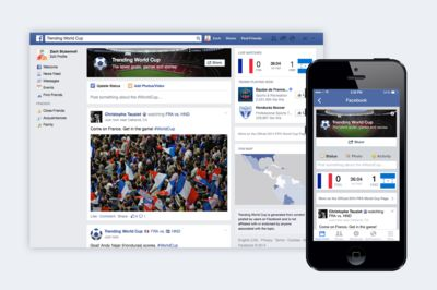 Facebook lanceert speciale site voor het wk voetbal