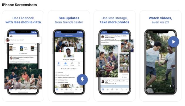 Facebook Lite preview