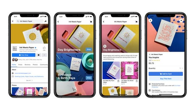 Facebook shops winkelen via social media