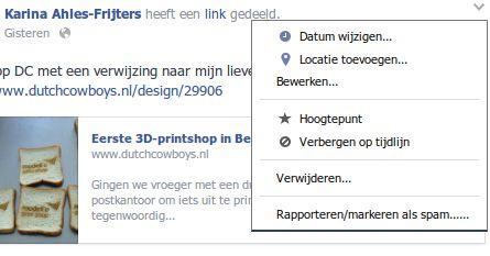 Facebook statusupdates zijn nu te bewerken na plaatsing.