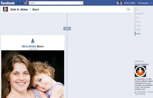 facebook timeline Mira