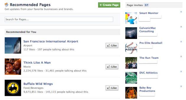 Facebook toont aanbevolen pagina's om meer gebruikers aan te trekken