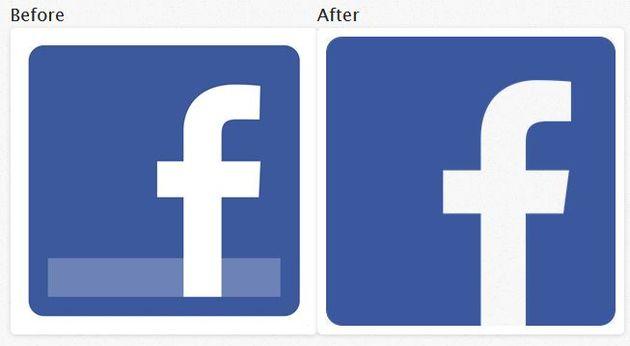 Facebook verandert logo's op website