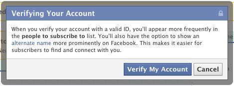 Facebook verified accounts niet voor iedereen beschikbaar
