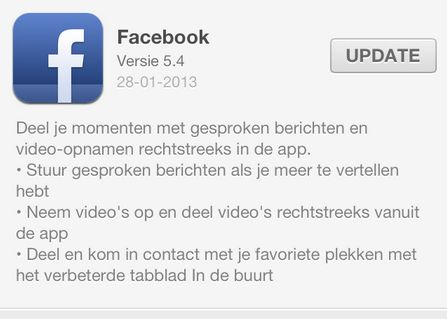 Facebook voegt opnemen en uploaden van video toe aan iOS app