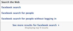 Facebook voegt 'search the web' toe aan zoekbalk