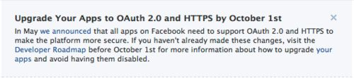Facebook welkomstab moet gebruik maken van SSL-verbinding