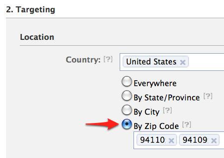 Facebook-Zip-Code-Targeting