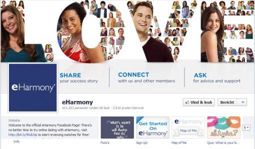 Facebookpagina eHarmony1